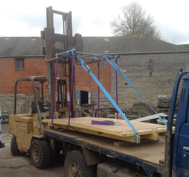 Duplex Webbing Lifting Sling Strap Strop 2 x 1 mtr x 2ton 60mm Handy Straps
