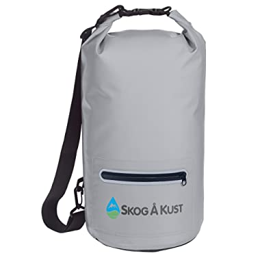 The Original DrySak Waterproof Dry Bag 10 & 20 Liter Sizes | with Comfort Shoulder Strap, Front Zip Pocket & Reflective Trim | Keeps Gear Dry During Watersports & Outdoor Activities | by Skog Å Kust