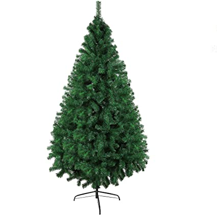 LuckyerMore 7 FT Christmas Pine Tree Artificial Fake Xmas Tree with Solid  Metal Stand & Decoration - Amazon.com: LuckyerMore 7 FT Christmas Pine Tree Artificial Fake