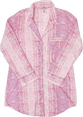 Victorias Secret - Pijama de franela de algodón - Rosa - XL ...