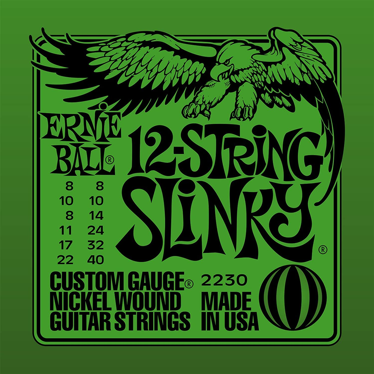Ernie Ball 9-String Slinky Nickel Wound Set.009 - .105 Ernie Ball Music Man P02628