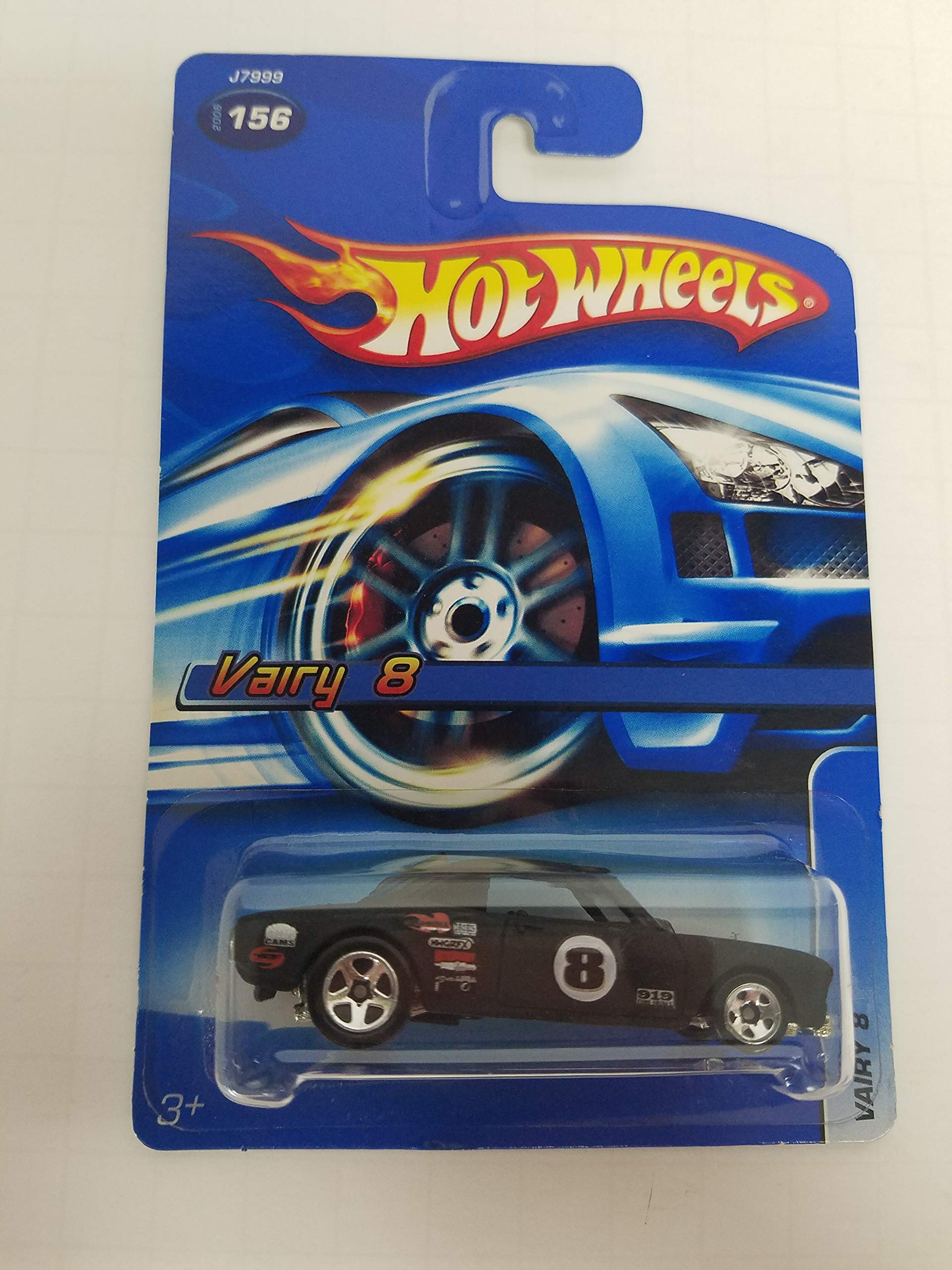 Vairy 8 Black Color No.156 Hot Wheels 2006 1/64 scale diecast car