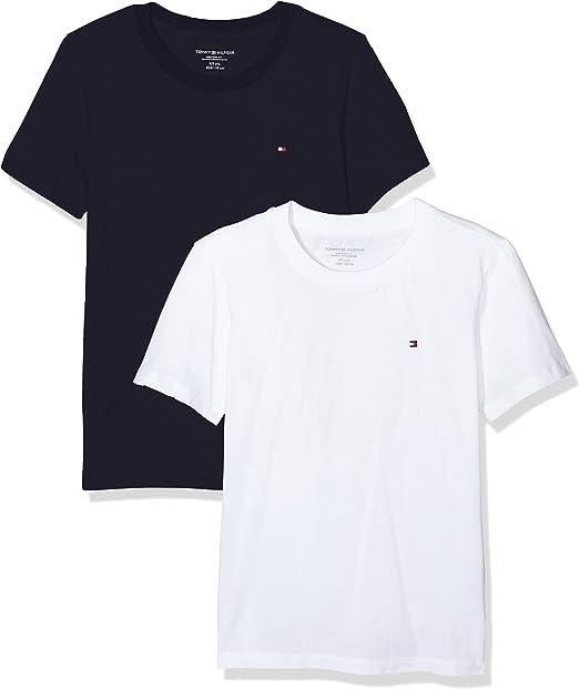 Tommy Hilfiger Camiseta (Pack de 2) para Niños: Amazon.es: Ropa y accesorios