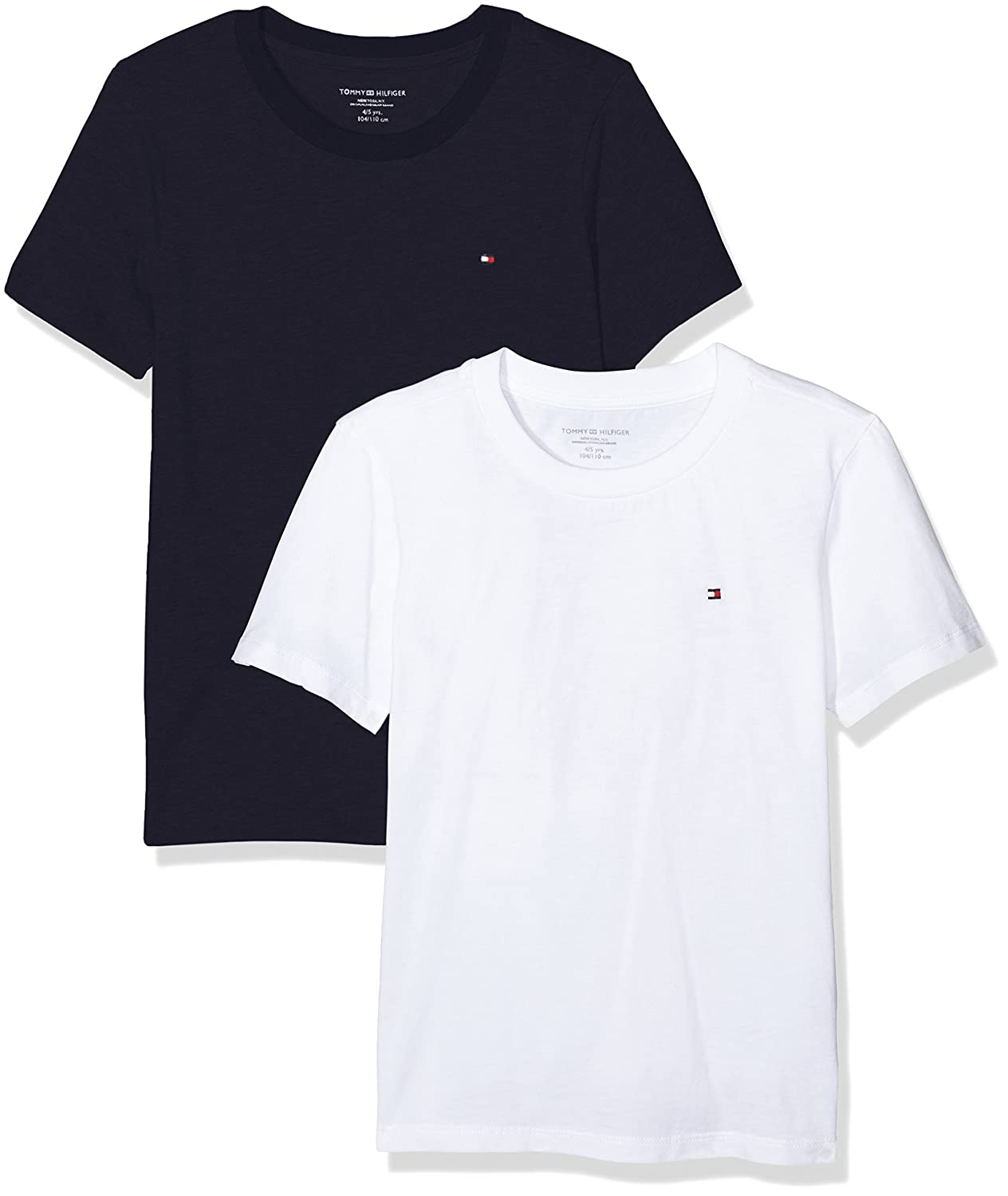 0e2b200f0ee54e Tommy Hilfiger Boy s T-Shirt Pack of 2  Amazon.co.uk  Clothing