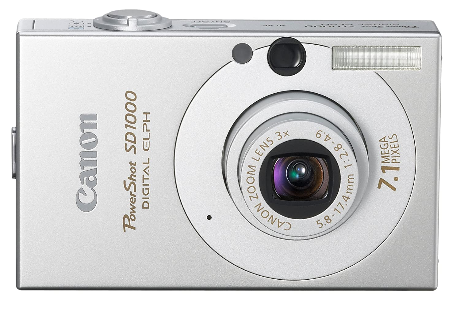 Amazon.com : Canon PowerShot SD1000 7.1MP Digital Elph Camera with 3x  Optical Zoom (Silver) (OLD MODEL) : Point And Shoot Digital Cameras : Camera  & Photo