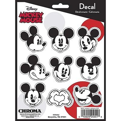 Chroma Graphics Disney Black,White Chroma 25051 Mickey Mouse Emoji Decal KIT, 9 Pack: Automotive