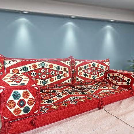 Tribal suelo asiento, hecho a mano sofá para suelo, Majlis ...