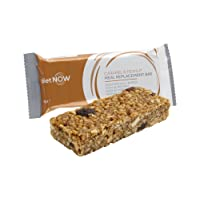 DIET NOW - Meal Replacement Bars | High Protein and Fibre Enriched With Vitamins | Very Low Calorie Diet - 12 Pack - Caramel & Peanut Flavour