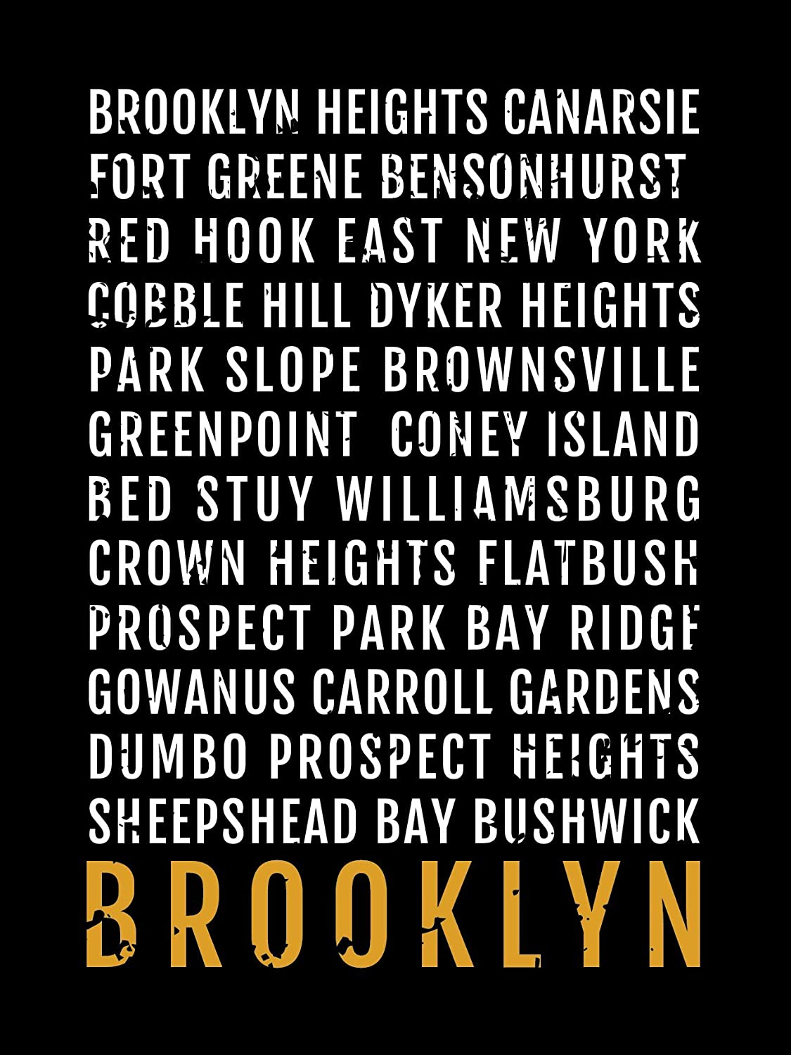 Fort Greene Subway Map.Brooklyn Print Neighborhoods Subway Sign Poster Wall Art Decor Canvas Word Map Gift Bus Scroll Typography Minimal Custom Personalized