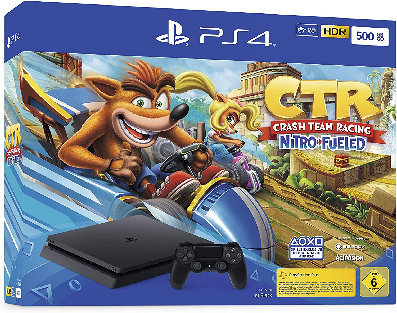 PlayStation 4 Konsole - Crash Team Racing Nitro-Fueled Bundle (Slim, 500GB, Jet Black) [Importación alemana]: Amazon.es: Videojuegos