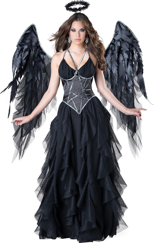 Disfraz de ángel negro para mujer – de calidad: Amazon.es ...