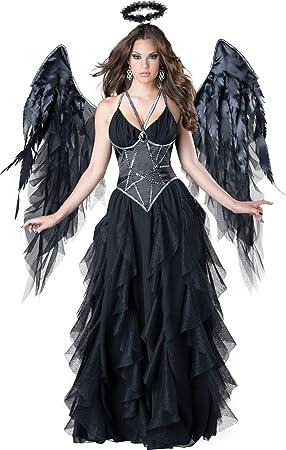 Disfraz ángel negro mujer Premium S: Amazon.es: Juguetes y juegos