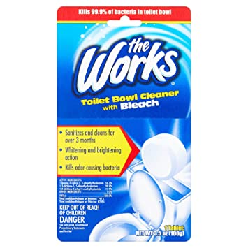The Works Bleach Automatic Toilet Bowl Cleaner 3 5 oz
