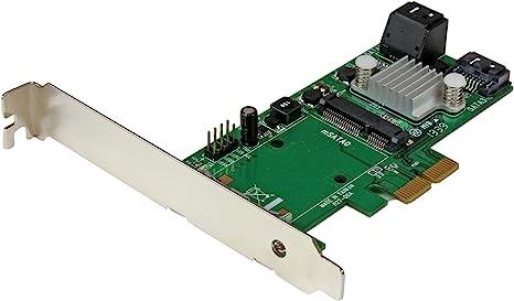 StarTech.com 3 Port PCI Express 2.0 SATA III 6 Gbps RAID Controller Card w/ mSATA Slot and HyperDuo SSD Tiering - PCIe SATA 3 / mSATA Card