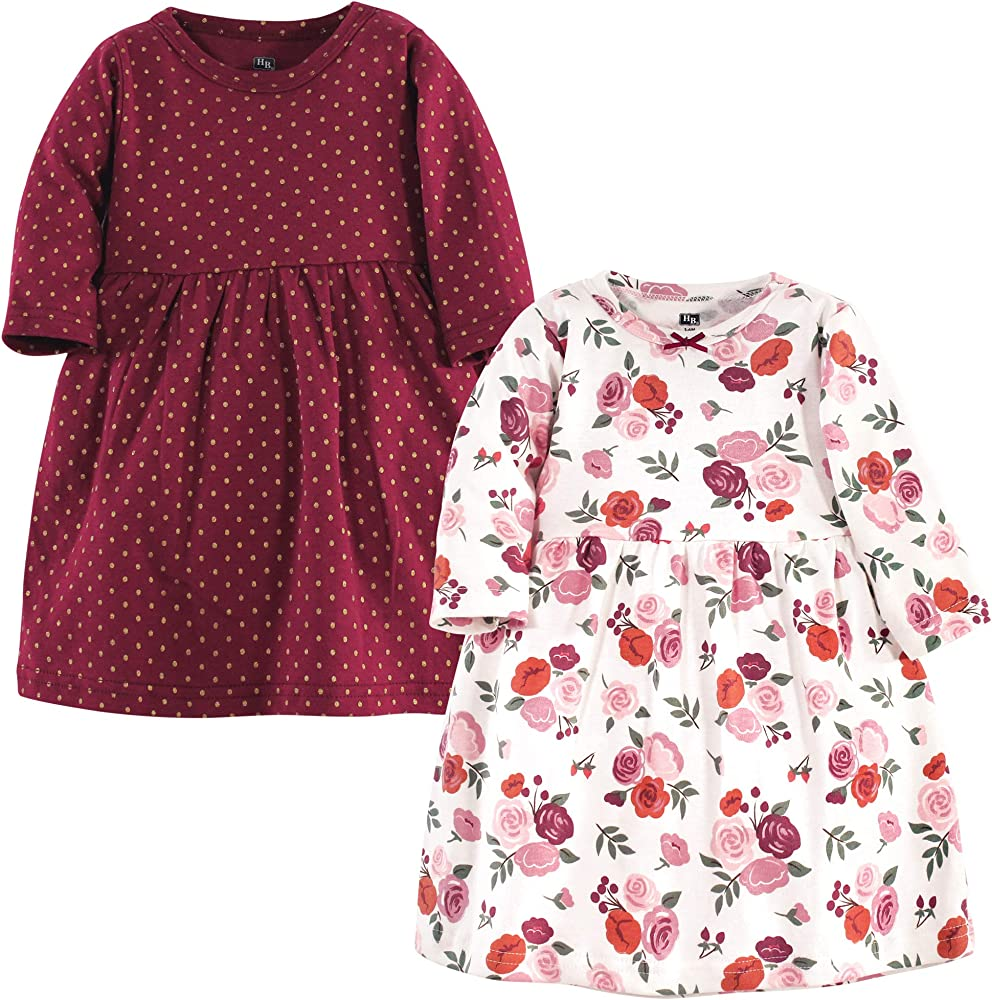 Baby and Toddler Girl Cotton Dresses, Fall Floral, 7-7 Months