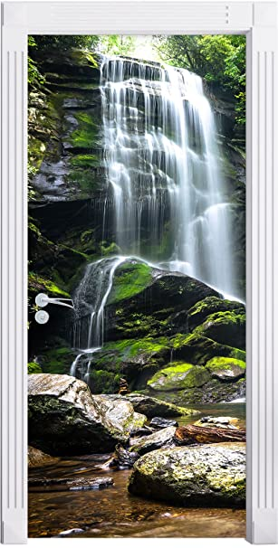 Stilzeit Möbel Wunderschöner Tropischer Wasserfall Als Türtapete