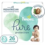 Diapers Size 3, 26 Count - Pampers Pure Protection Disposable Baby Diapers, Hypoallergenic and Unscented Protection, Jumbo Pa