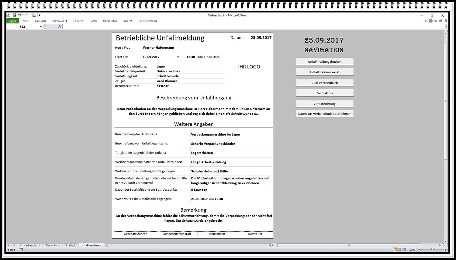 Elektronisches digitales Verbandbuch Computer Software Verbandsbuch ...