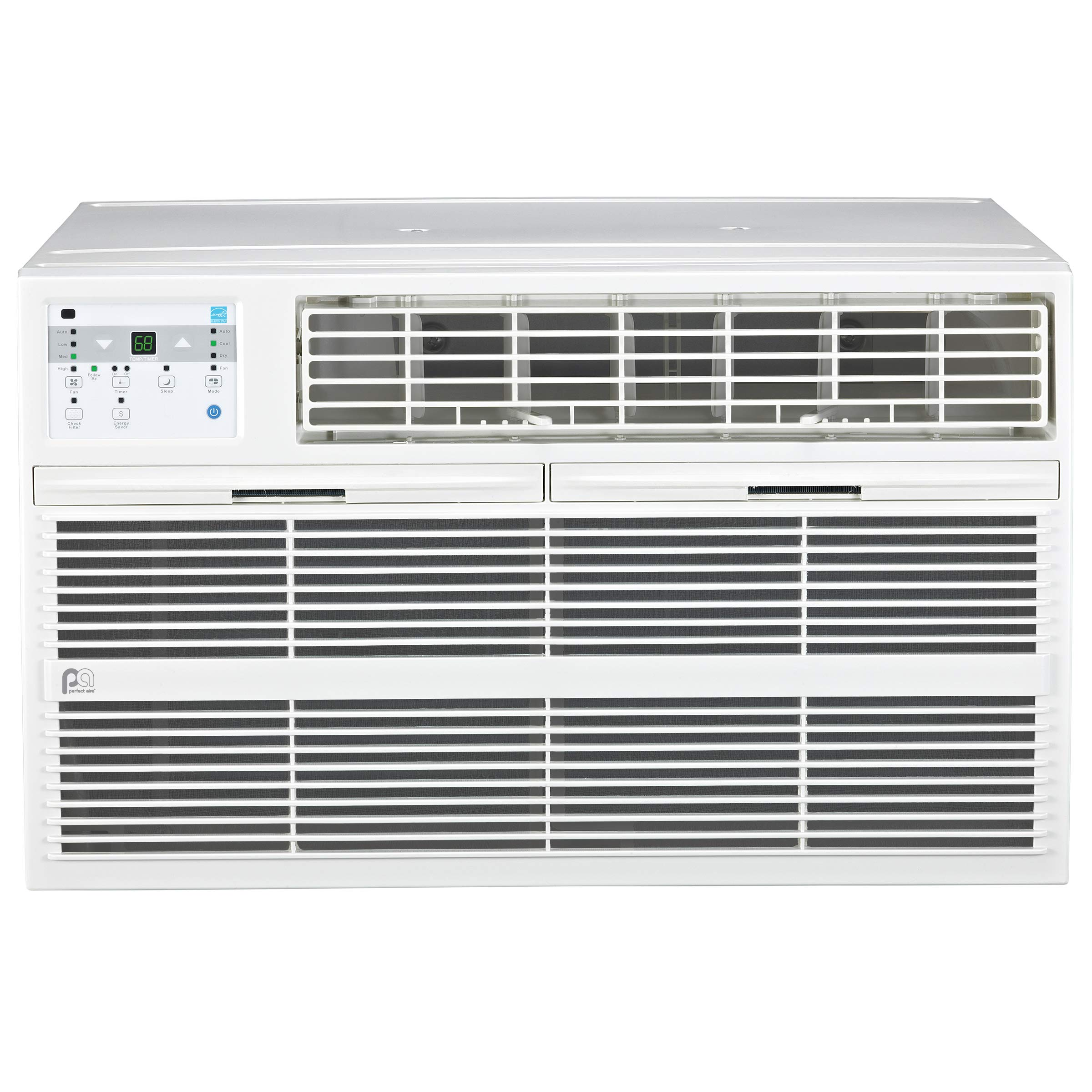 Perfect Aire 4PATW10000 10,000 BTU Thru-the-Wall Air Conditioner with Remote Control, EER 10.6, 400-450 Sq. Ft. Coverage by PerfectAire