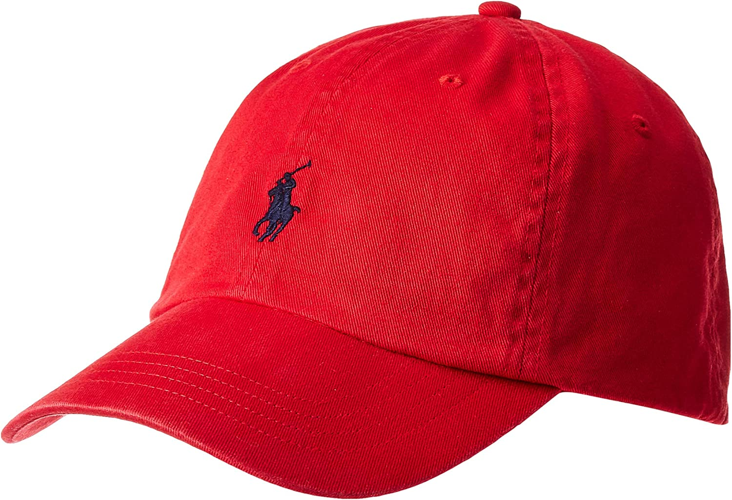 Polo Ralph Lauren Mens Classic Pony Logo Hat Cap (BSR RL2000 Red ...