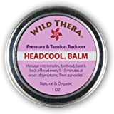 Wild Thera Headache Migraine Relief. Natural Herbal Balm with Essential Oils for Sinus, Nausea, Stress & Anxiety Relief. Can be Used with Headache Hat, Migraine mask, Ice Pack and Aromatherapy.