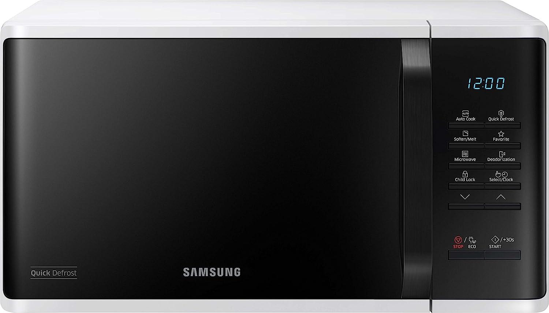 Samsung MS23K3513AW/EG - Microondas (Encimera, Solo microondas, 23 L, 800 W, Botones, Giratorio, Blanco): Amazon.es: Hogar