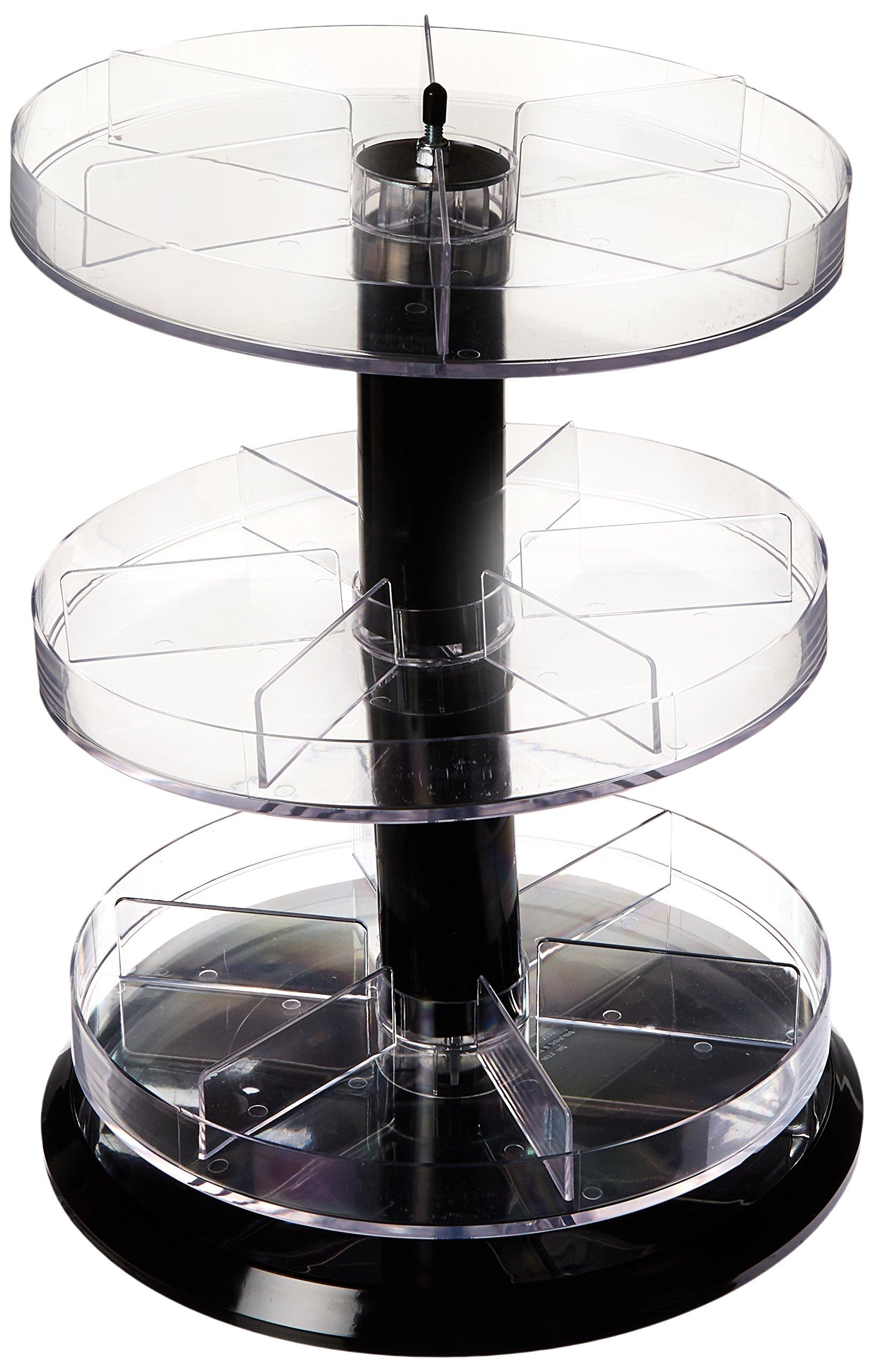 Azar Displays 226030 11'' Dia x 13.5'' H 3-Tier Round Divider Counter Display