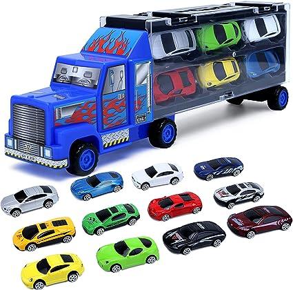 Juguetes Para Niños De 3 4 5 6 7 Años De Edad Juguetes Para Niños De Coche Camión De Juguete Vehículos Fundidos A Presión Incluye 12 Mini Coches De Juguete Para