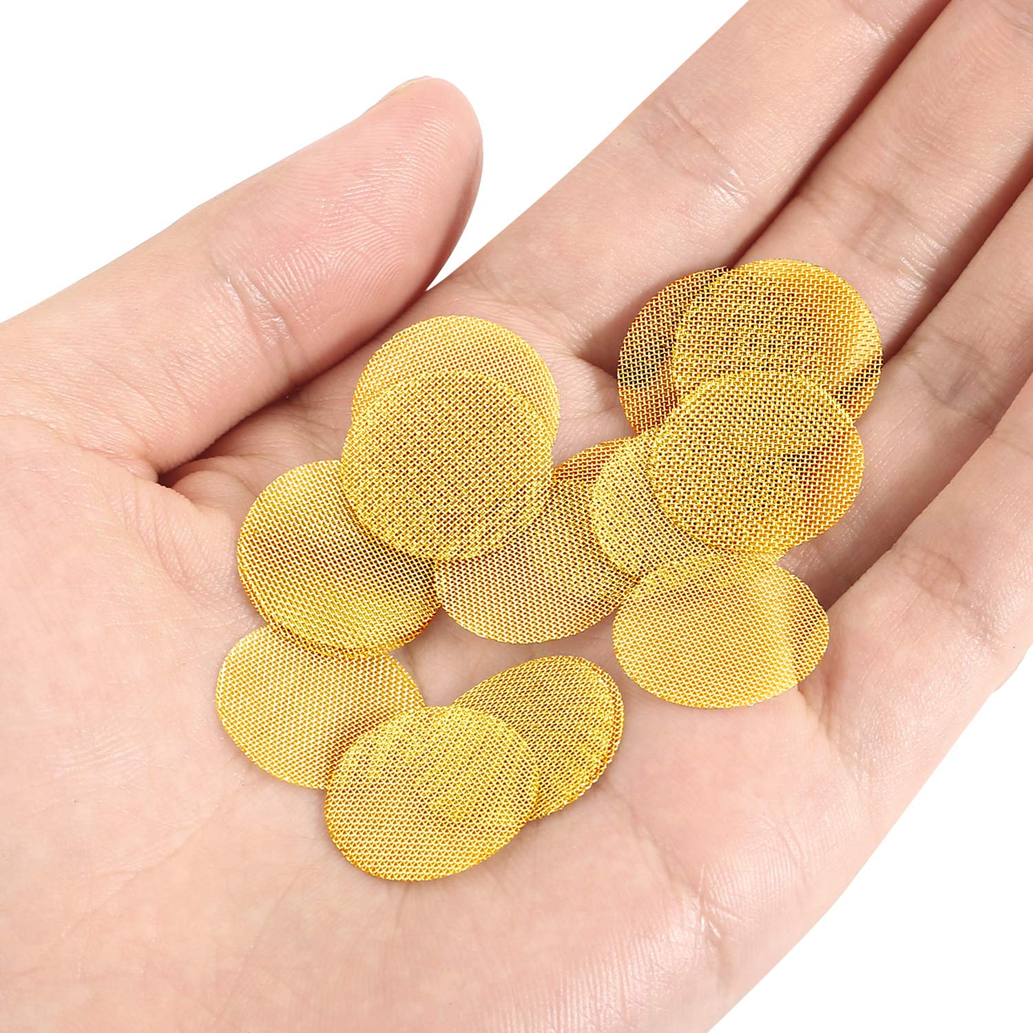 150 Pieces Pipe Screen Filters Premium Brass Pipe Screens for Bowls Smoking NEW