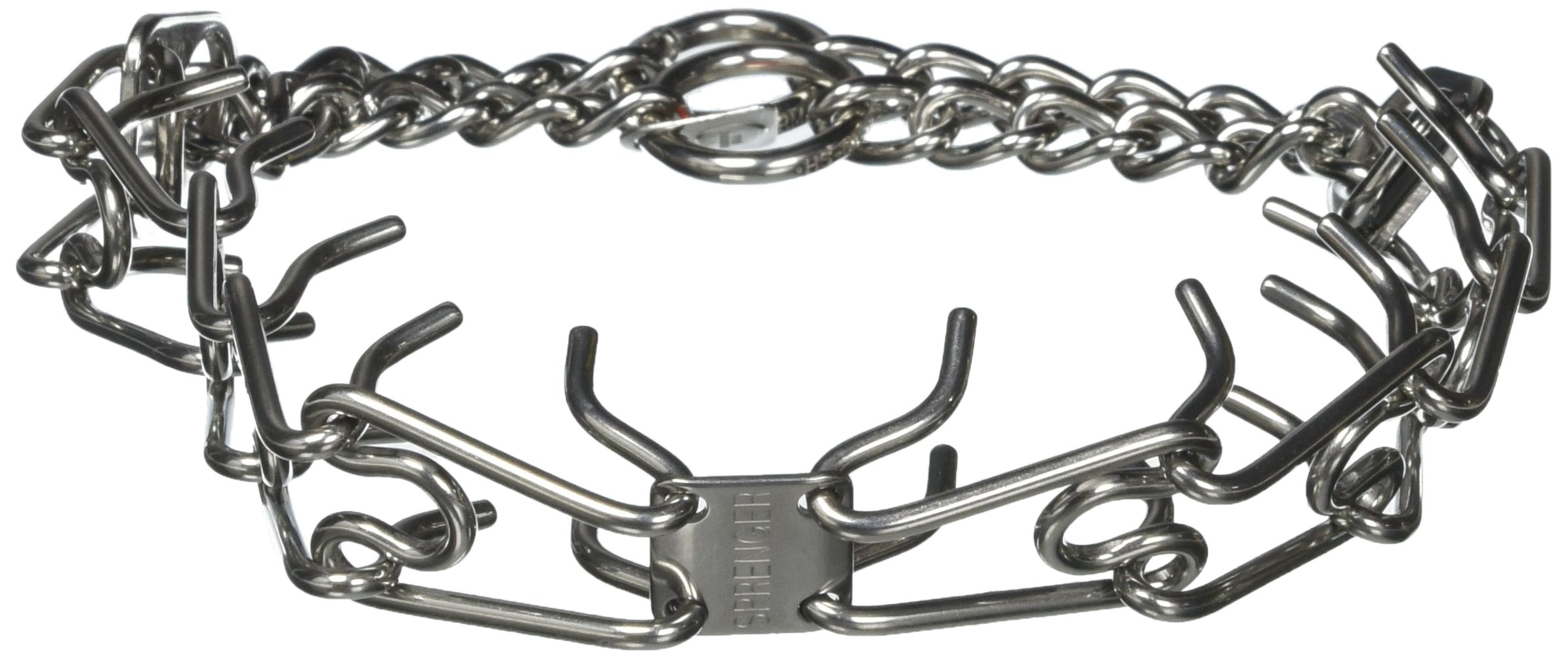 Herm Sprenger Stainless Steel Prong Training Collar Without Swivel 23'' Medium 3.2mm by Herm Sprenger