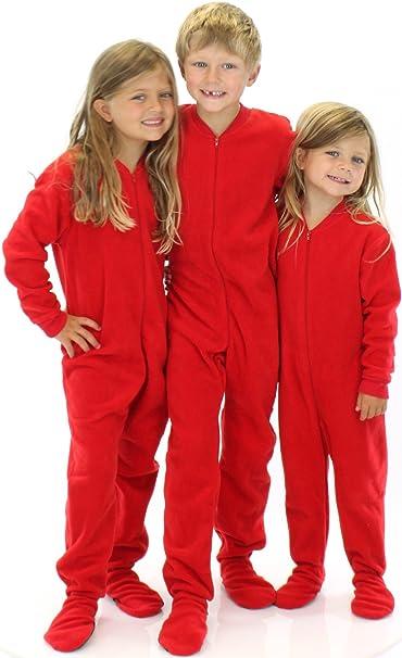 Amazon.com: SleepytimePjs Infant & Kids Red Fleece Onesie PJs ...