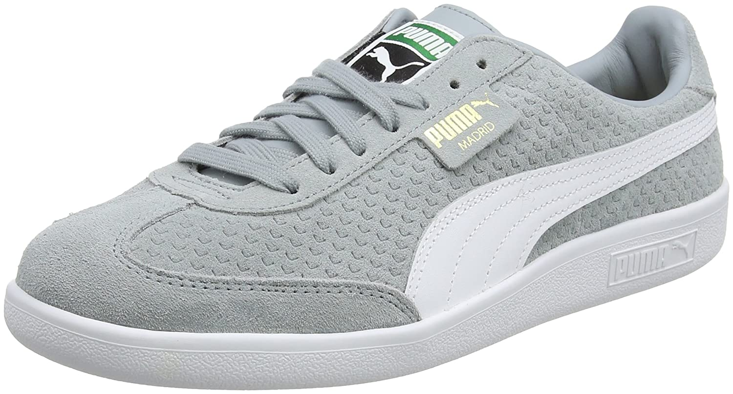 Puma Unisex-Erwachsene Madrid Perforated Suede Sneaker  39 EU|Grau (Quarry-puma White-puma Team Gold-limestone)
