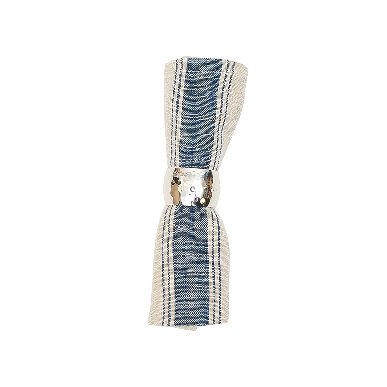 C F Home Anchor Feed Sack Cotton Napkin 18×18 Set of 6 Napkin Set of 6 Blue
