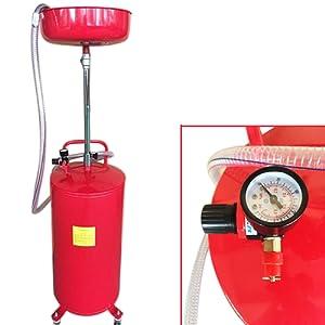 Vidange d'huile Portable 20 Gallons Drain Egoutoir Tank Récupérateur d'huile