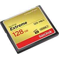 SanDisk SDCFXS-128G-A46 Extreme Memory Card 128 GB CompactFlash, Black