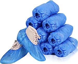 Shoe Covers Disposable, Clinivex Non Slip Disposable Shoe & Boot Covers, Box of 100 Pack (50 Pairs), Durable & Waterproof Booties Shoe Covers, One Size Fits Most.