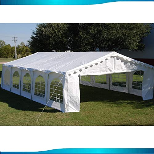Delta 32 x16 Budget PE Party Tent Canopy Shelter White Canopies