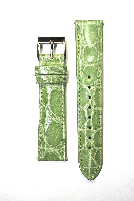 18 mm Apple Green Genuine Crocodile withクイックリリースピンfor Micheleスタイル  B004ZSNQWC