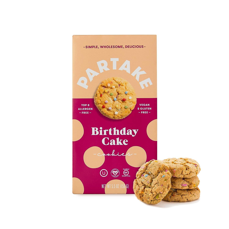 Awesome Partake Crunchy Cookies Birthday Cake 2 Boxes Vegan Gluten Birthday Cards Printable Inklcafe Filternl