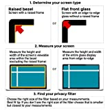 23 inch (Diagonally Measured) Widescreen 16:9 Ratio Computer Privacy Screen Filter for Desktop LCD Monitor Display, Anti-Glare, Anti-Scratch Protector Film. Check Your Monitor Size