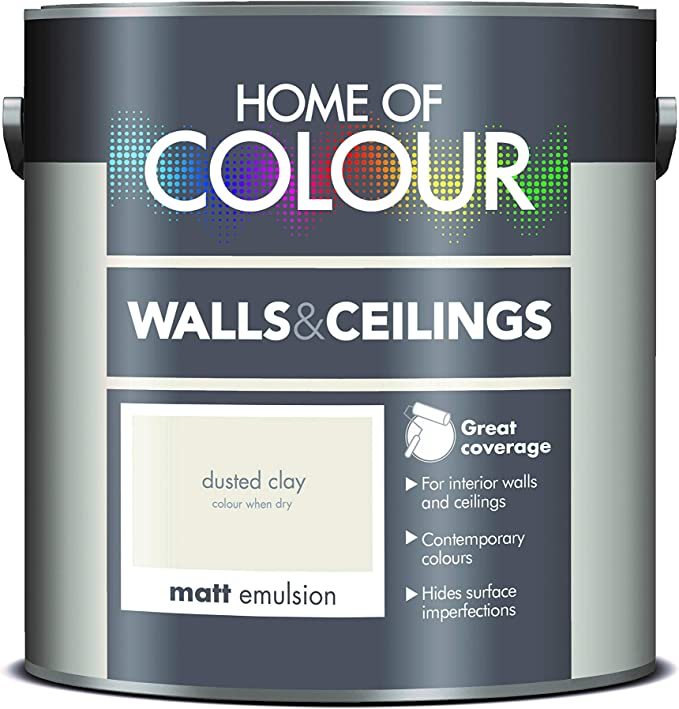 Home of Colour 309509 Walls and Ceilings Matt, Dusted Clay, 2.5 Litre: Amazon.co.uk: DIY & Tools