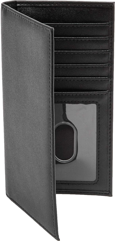 Juvale Checkbook Cover Wallet Card Holder RFID Blocking For Men /& Women Black