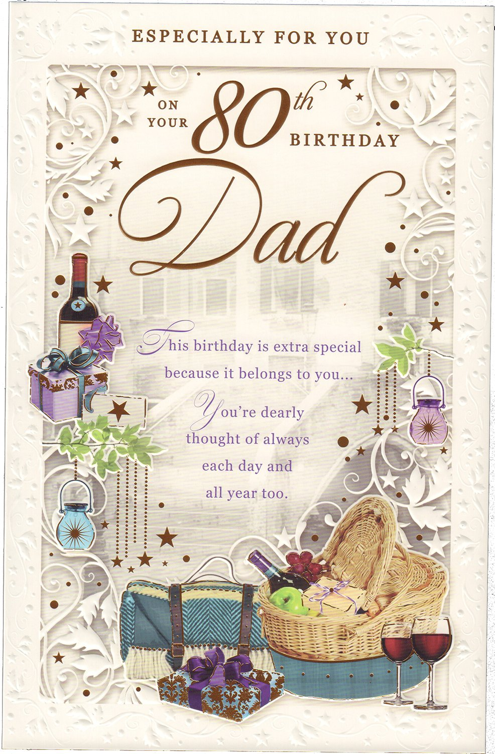 Dad 80th Birthday Card Especially For You On Your Amazoncouk Office Products