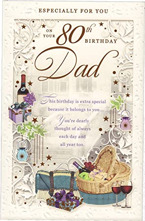 Dad 80th Birthday Card Quot Especially For You On Your