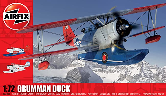 Airfix A03031 Grumman J2F-6 Duck Model Building Kit, 1:72 Scale