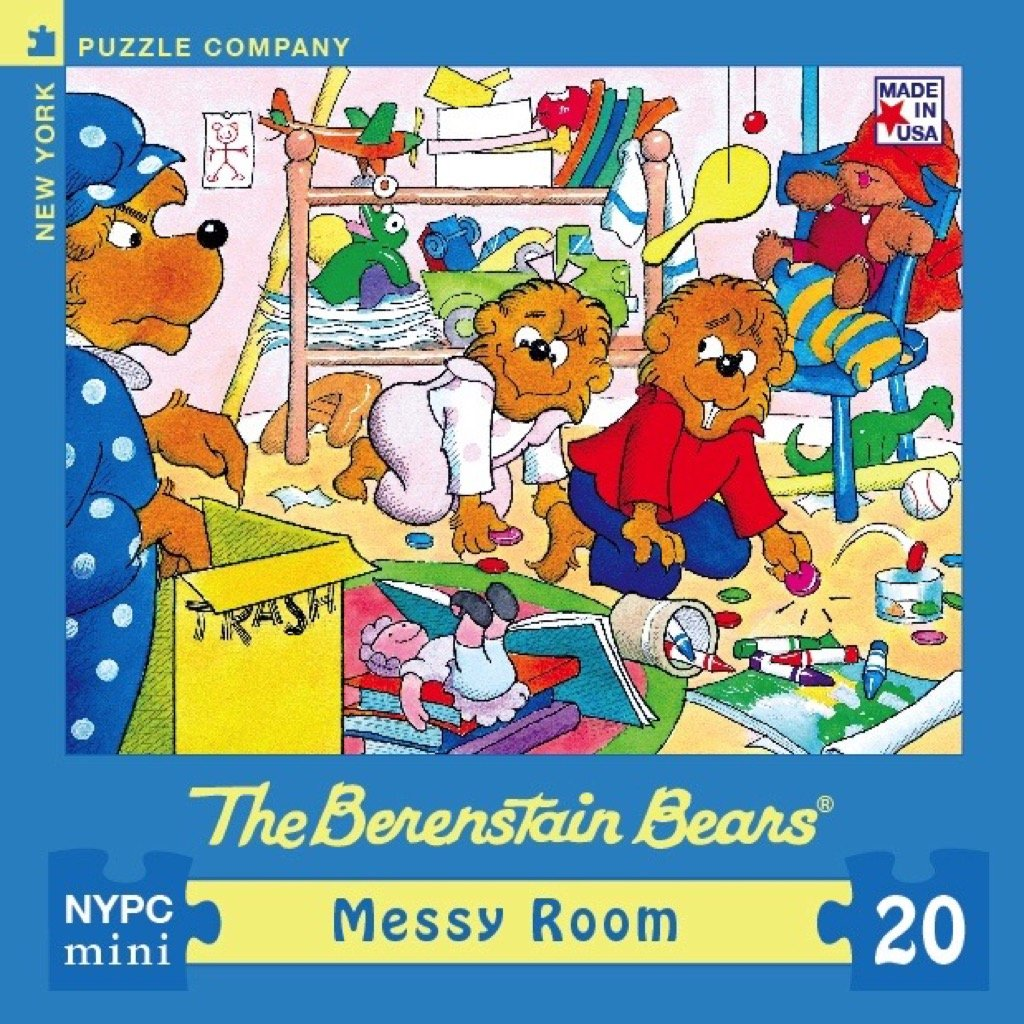 Berenstain Messy Room New York Puzzle Company 20 Piece Jigsaw Puzzle
