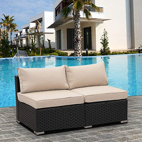 2 Piece Outdoor PE Wicker Furniture Set