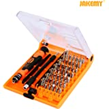 Jakemy JM-8129 45 in 1 Precision Screwdrivers Set with Tweezers & Extension Shaft, for Household, Mobile, Cellphone, Tablet, Laptop, Electronics, DIY Models and Other Home Appliances