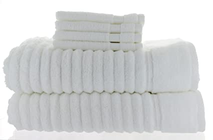 2 toallas de baño Charisma, blancas, 76 x 147 cm + 4 paños de