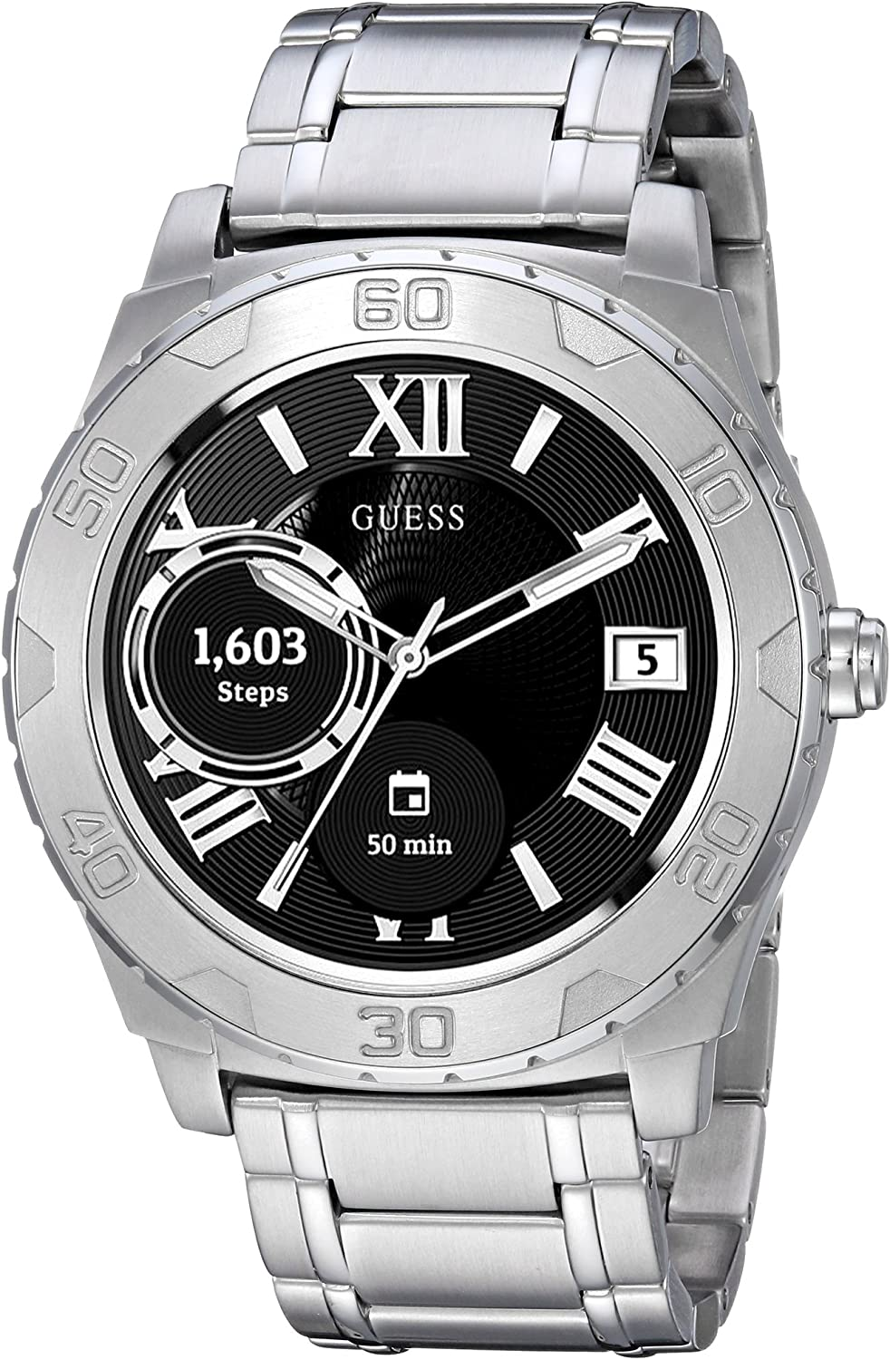 periodo Disegnare un dipinto Millimetro  Guess Ace Mens Touch AMOLED Silver Smart: Amazon.co.uk: Electronics